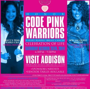 Breast Cancer Awareness Event honoring our Code Pink Warriors
