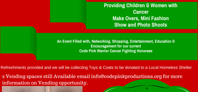 "Code Pink Productions, Inc. Presents ""A Holiday Makeover Dream"""
